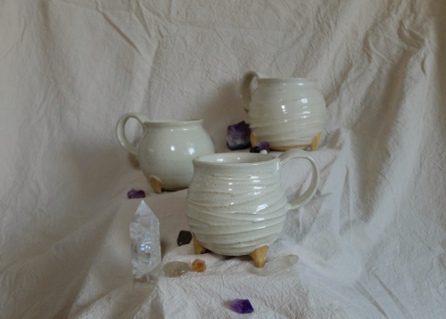 Gabrielle mugs with crystals